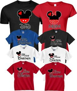 51203c2c65868 Details about Mom And Dad And Family Mickey Minnie NEW Disney funny cute  Customized T-Shirts