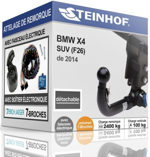 7-broches ATTELAGE automatique BMW X4 SUV F26 de 2014+FAISC.UNIV