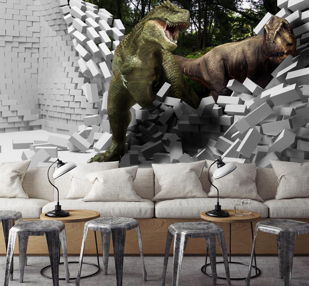 3D Giant Dinosaurs 3405 WandPapier Decal Dercor Home Kids Nursery Mural Home