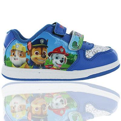 Chicos Paw Patrol mablehorepe Toque Fijación Entrenadores Zapatos De Salón Uk Size 5-10