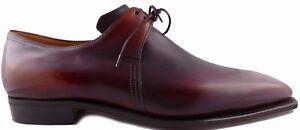 Pierre-CORTHAY-Arca-Cuir-Derby-Chaussures-Marron-Sur-Mesure-patine-10-44-BNWB