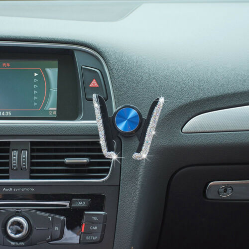 Crystal Car  Air Vent Mounted Mobile Phone Holder Basket Cradle Stand Handsfree