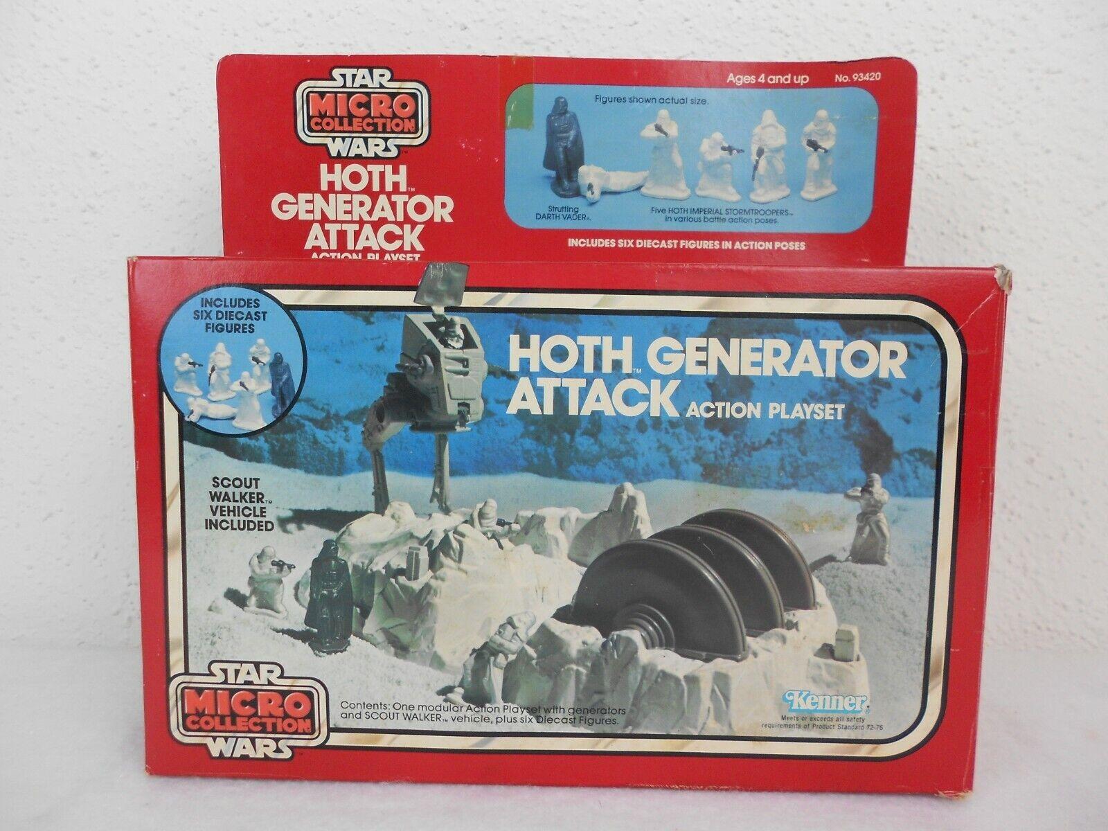 Vintage estrella guerras ESB 1982 calienteh Generator Attack Micro collezione  Sealed scatola