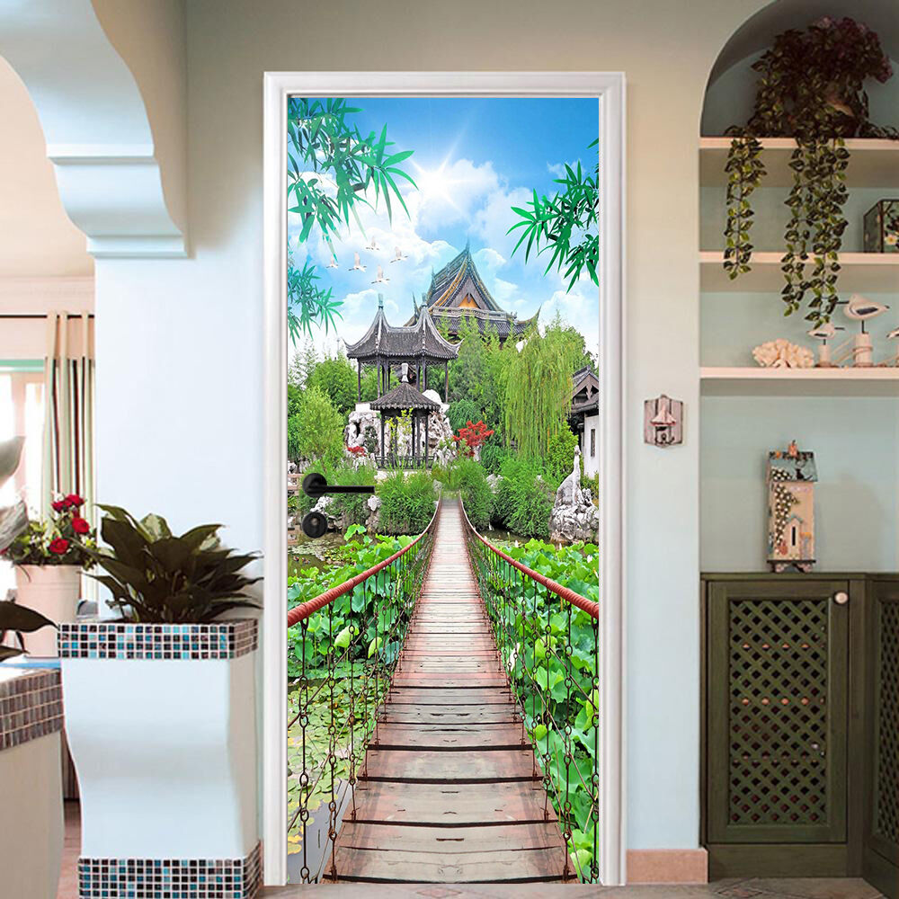 3D Pavillon 734 Tür Wandmalerei Wandaufkleber Aufkleber AJ WALLPAPER DE Kyra