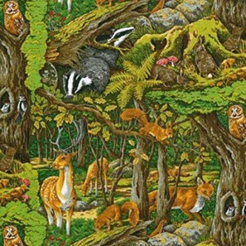Nutex Tela-Amigos Del Bosque 100/% Algodón-Varios Tamaños