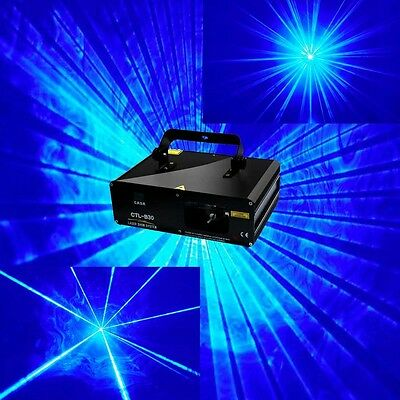 Blue 300mW 450nm DMX Laser Light Stage DJ Party Club Lighting