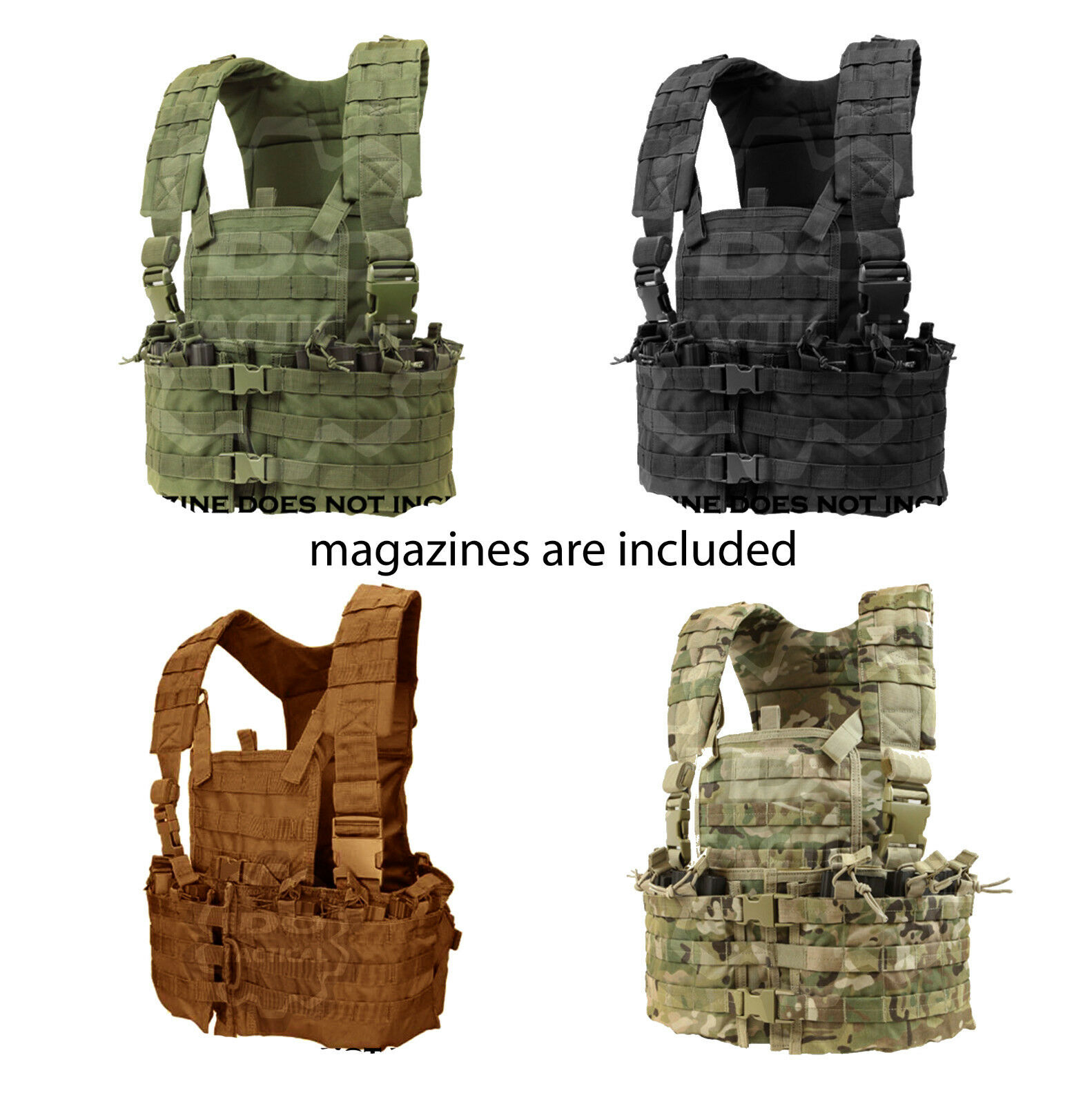 Condor CS Adjustable Modular Chest Set, M-XL   5.56 .223 Magazine Pouch