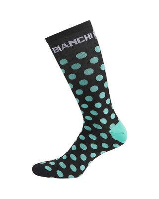 One Pair WHITE//CELESTE Bianchi Milano ASFALTO Coolmax Cycling Socks