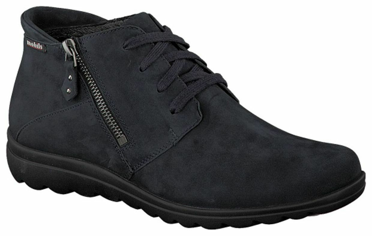 Mesdames bucksoft Bottines en cuir MEPHISTO Cathy Bleu Taille UK 7.5