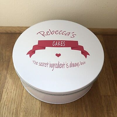 Shabby Personalised chic SPECIAL Friend BAKING Tin gift any name CAKE TIN BAKER