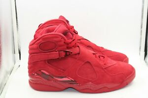 1142e041b0bef2 Air Jordan Retro 8 Womens Valentines Day Gym Red Team Red Size 9.5 ...