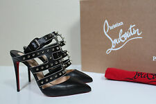 New sz 5 / 35 Christian Louboutin Tchicaboum Studded Black Leather Shoes