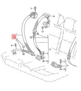 Genuine VW Golf R32 three-point seat belt with inertia reel