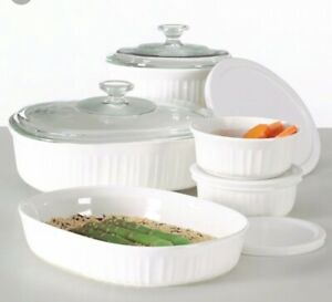 Corning Ware French White Crown Corning 10 Piece Classic Cookware Casserole Set