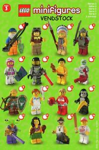 Lego Figurine série 3 loup-garou très bon état seulement jamais affiché.
