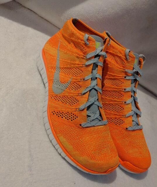 Nike Mens Flyknit Chukka Boot Total Orange Volt Size 12 639700 800 lightweight