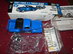 ERTL 1951 FORD F1 F-1 PICKUP TRUCK PROMO DIECAST MODEL BANK NEW IN BOX RARE
