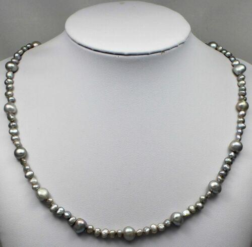 Zuchtperlen-Ketten,echte Süßwasserperlen-Halskette 1 St Silber Neu L.45//50cm F