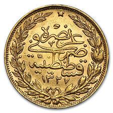 Turkey Gold 100 Kurush Coin - Random Year - XF/AU - SKU #50906