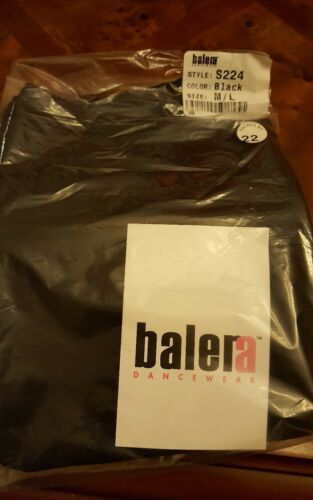 Balera black crepe wrap dance skirt size M//L S224