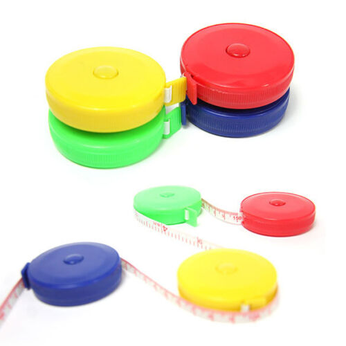 """60/"""" Retractable Body Measuring Ruler Sewing Cloth Tailor Tape Measure Soft Ruler"""