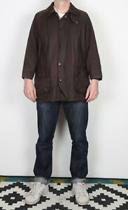 BARBOUR-Bedale-Wax-Jacket-Chest-42-034-Medium-Large-Brown-K1T