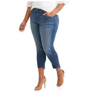 9905cc7cd9 Details about Terra & Sky Skinny Jeans Plus Size 20 Womens Slim Cropped  Denim Stretch NWT