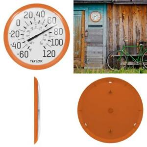 Taylor Precision Products Big And Bold Dial Thermometer 13 25 Inch Orange 77784023242 Ebay