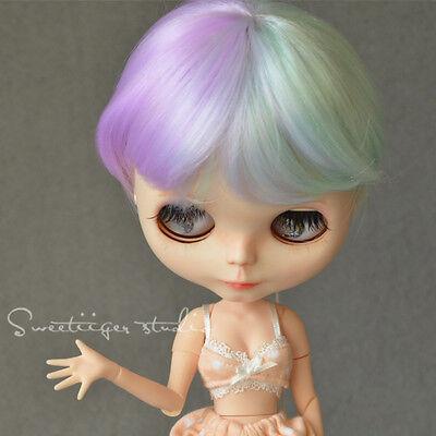 "[Tii]8-10"" NEO 12"" Blythe Hair doll wig fantasy dream short curly bob"