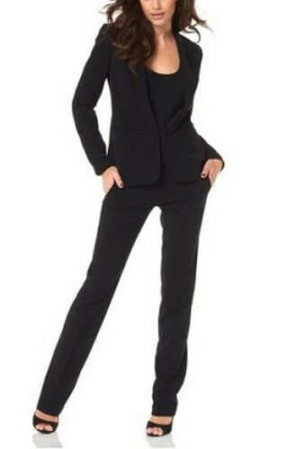 Hosenanzug Set Laura Scott NEU L-Gr.72-80 Rot Damen Blazer Hose Stretch Bootcut