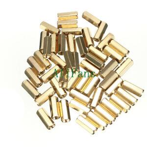 50PCSM3-12-mm-Hexagonal-net-nut-Female-brass-Standoff-Spacer-MO