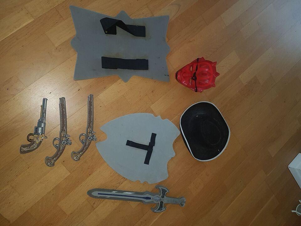 Blandet legetøj, våben Skjold, blandet