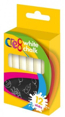 Color Blanco y no tóxico Cretas fosfatadas Niños pavimento Art /& Fun Paquete De 12