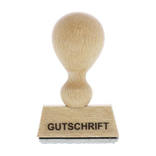 von stempel-fabrik Holzstempel GUTSCHRIFT 40x10 mm - 1 Zeile