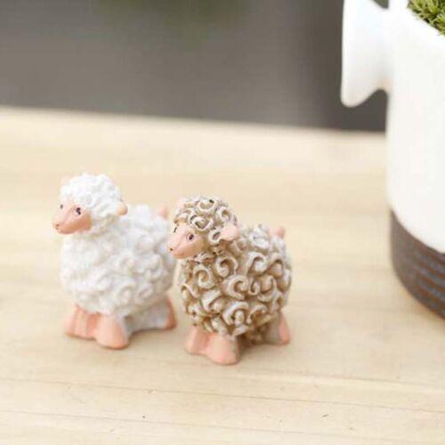 Resin Craft Garden Miniature Figurine Plant Pots Ornament Fairy Dollhouse Decor