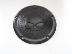 Harley-Davidson-Skull-Kupplungsdeckel-Derby-Deckel-Touring-schwarz-matt-25700740