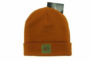 292f9c3d Details about Nike Air Foamposite One Knit Brown Stocking Cap Beanie Hat -  Wool Blend Adult OS