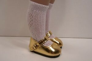 "PINK Doll Shoes For 10/"" Ann Estelle Sophie Patsy Metallic DK Dark Debs"