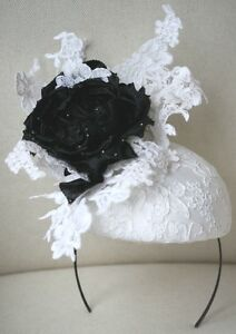 Image is loading PHILIP-TREACY-HEAD-PIECE-BRIDAL-ASCOT-RACING-HAT cdc11e4d97b0