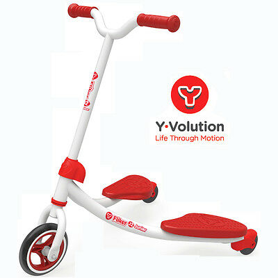 Childrens Y Fliker J2 Kids Scooter - Red - Limited Stock - Special Offer - 3+