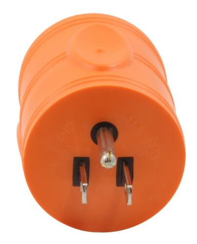 Compact Industrial Adapter Regular Household Plug to NEMA L5-30R by AC WORKS®
