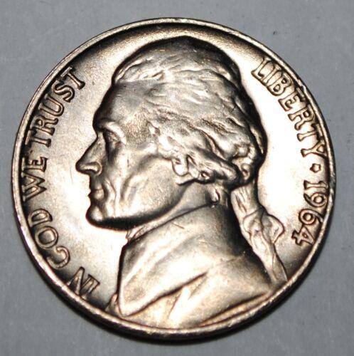 United States 5 Cents 1964 P Jefferson Nickel USA UNC KM# A192