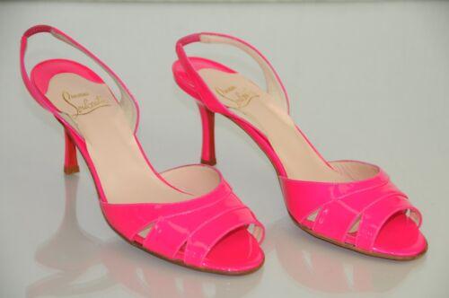 40 70 Christian Sandales Rose Verni Ventilé 9 Louboutin Vif Neuf 5 Chaussures T6wFCw