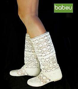 9c2afc428f3f5 Details about SUMMER CROCHET BOOTS BABOOTS AVAILABLE IN FIVE COLORS