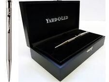 Yard o Led Diplomat Ballpoint Pen, Barley Finish Sterling Silver, Free Engraving