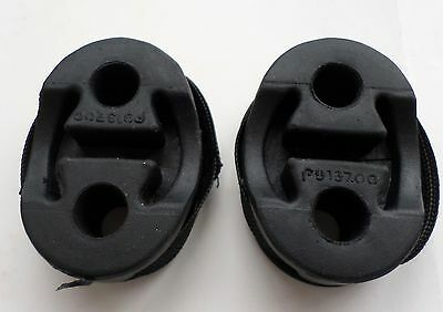 2 Exhaust Rubbers Fiat Brava Bravo Mount Support Silencer Bracket Hanger