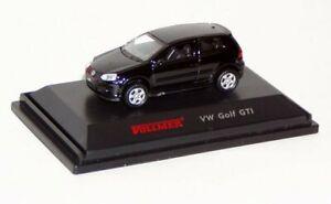 Vollmer-1633-H0-VW-Golf-GTI-schwarz-Fertigmodell-Neu-OVP