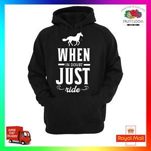 de Sweat Cool Equestre Equitation Sauter Ride capuche En Sauter à cas Funny doute Just vOy8nP0wmN
