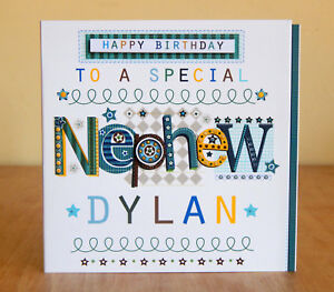 Image Is Loading Nephew Birthday Card Special Personalised