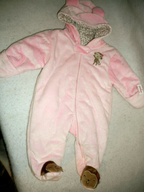 789a39a6e Girl 3 M: NWT PINK FLEECE ~CARTERS~ ONE-PIECE COVERALL SNOWSUIT OUTERWEAR